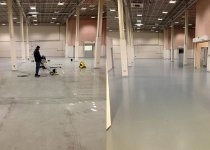 commercial floor before and after painting