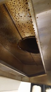 kitchen canopy before coated with grease ... & Kitchen Canopy Cleaning | Kitchen Duct Cleaning