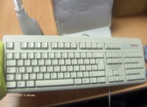 keyboard after deep clean and sanitisation