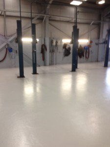 warehouse and garage floor painting