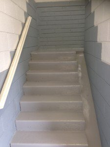commercial stairs painting